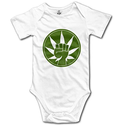dy Kurzarm Weed Leaf Newborn Bodysuits Baumwolle Strampler Outfit Set ()