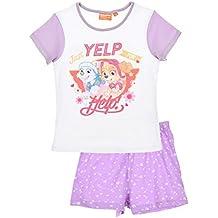 Pijama Paw Patrol-Patrulla Canina- para niñas 2 piezas-camiseta manga corta pantalón corto- 100% algodón