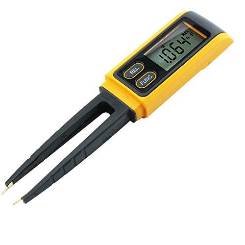 Handheld Pinzette Digital Resistance Kapazitanz Dioden-Test Multimeter Meter R / C SMD 3999max Lesen + Relative Messung