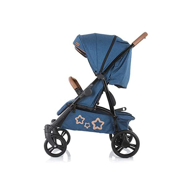 Chipolino Passo Doble Sibling Pushchair Folding 73 cm Wide Footmuff Chipolino twin pushchair easy to fold, footrest and push handle covered with imitation leather from birth, large sunroof, foot cover, only 73 cm wide 5-point safety harness with shoulder pads, 5 adjustable lying positions, adjustable leg rests per seat 4