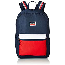 Levi's Kids' Big Classic Logo Backpack, Dress Blues Sportswear, O/S