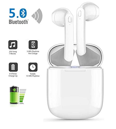Wireless Headphones, Upgraded SoundBuds Slim Workout Headphones Magnetic In-Ear Earbuds, Bluetooth 5.0,10-Hour Playtime, IPX7 Waterproof for Apple Airpods