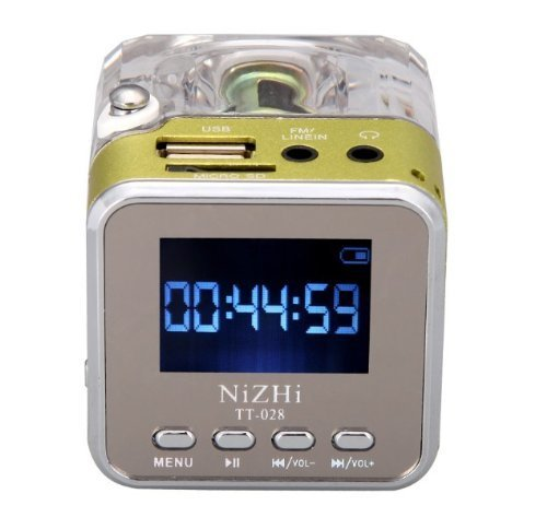 Docooler Mini Digital Portable Musik MP3 / 4 Player TF USB Disk Lautsprecher FM Radio Red Digital Portable Speaker System