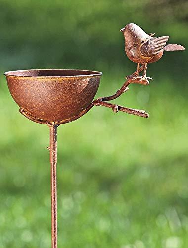 KUHEIGA Vogeltränke zum Stecken, Rost, Loki