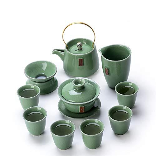 TEAHOM Teeservice.Teekanne Set Porzellan Moderne Teekanne und Teecups Bugholz Griff für Lose Blätter & Flower Teebeuteln Kräutertee Lifestyle