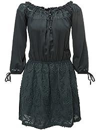 Khujo Damen Sommerkleid Off Shoulder Kleid
