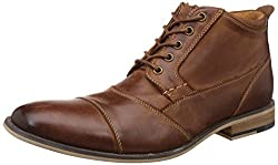 Steve Madden Mens Jabbar Dark Tan Boots - 10.5 UK/India (44 EU)(11 US)