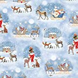 Quilting Treasures QT69 Weihnachts-Woodland-Schlitten,