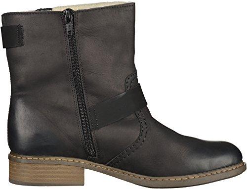 Rieker Damen Stiefel schwarz, 961159-1 schwarz