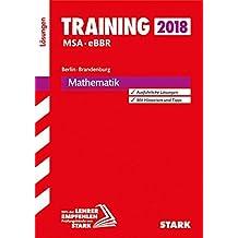 Lösungen zu Training MSA/eBBR - Mathematik -  Berlin/Brandenburg