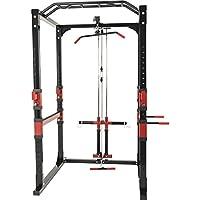 Gorilla Sports Station de Traction - Cage à Squat - poulie Haute et Bas Charge guidée - Power Lifting