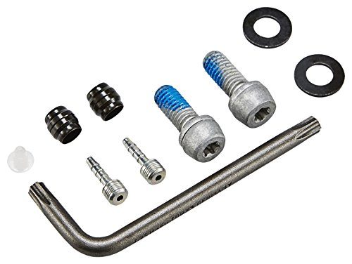 Magura MT4, 2-Finger Aluminium-Leichtbau-Hebel, Links/rechts verwendbar, 2.200 mm Leitungslänge, Einzelbremse, inkl. Zubehör (VE = 1 Stück) Fahrradbremse schwarz, One Size - 2