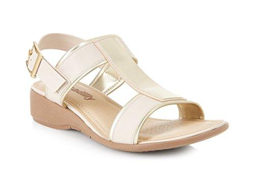 Piccadilly 416015rembourré confortable sandale Beige - beige