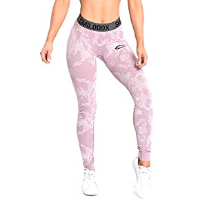 SMILODOX Camouflage Leggings Damen Army | Seamless – Figurformende Tight für Sport Fitness Gym Yoga | Sporthose – Workout Trainingshose – Tights Laufhose Camouflage