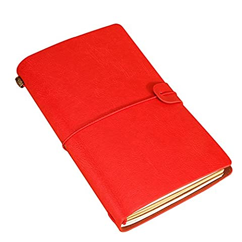 XUAN Vintage Refillable Notebook Leather Cover Travel Journal Diary With