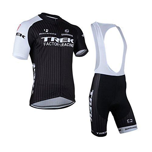 Strgao 2016 Herren Pro Rennen Team Trek MTB Radbekleidung Radtrikot Kurzarm und Tr?gerhose Anzug Bib shorts suit (Bontrager Super)