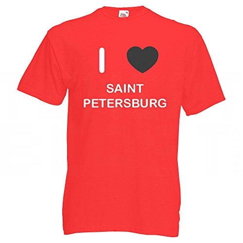 I Love Saint Petersburg - T Shirt Rot