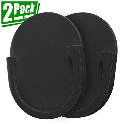 Handyhalterung für faltbaren Griff Ständer, 2er-Pack Auto Halterung für Steckdosen Benutzer mit Kleber verwendet auf Auto/Wand/Zuhause/Schreibtisch/überall, schwarz ()