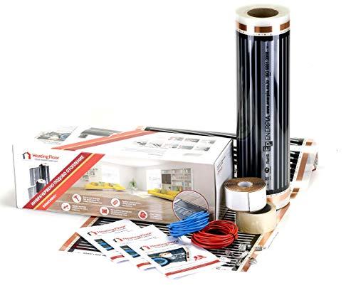 Elektro-fußbodenheizung Kabel (Heating floor - 3m2 Fußbodenheizung Set Elektrische Infrarot Heizfolie für Laminat & Parkett 220W/m2)