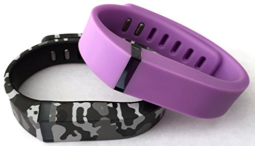 Small 1 Violet 1 Camouflage Camo Army Military Color Band for Fitbit FLEX Only With Clasps Replacement /No tracker/ (Violett Camo)