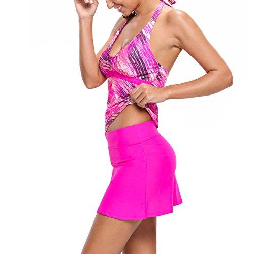 DISSA Damen Alle Badeanzug Bademode Tankini-5 S41967-Rose
