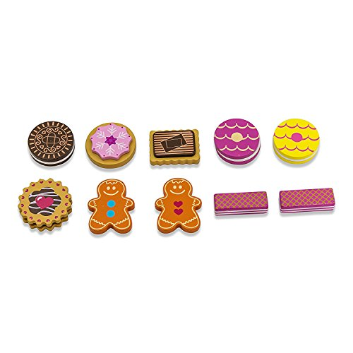 Kids Tea Party Wooden Biscuit Set Counting Game (10 Biscuits) Lucy Locket