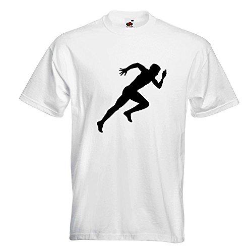 KIWISTAR - Läufer Marathon Sprint T-Shirt in 15 verschiedenen Farben - Herren Funshirt bedruckt Design Sprüche Spruch Motive Oberteil Baumwolle Print Größe S M L XL XXL Weiß