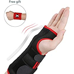 MARNUR Handgelenkschiene, Handgelenkbandage mit Schiene und verstellbare Klettbänder, Handgelenkschoner zur Unterstützung und Wiederherstellung von Karpaltunnel, Sehnenverletzung und Karpaltunnelsyndrom