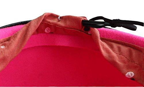 Mme Boucle De Ceinture Bonnet De Laine One Size pink