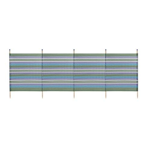 YELLO WBL Protection Solaire extérieur Standard Rayures Brise-Vent, 5 Pole Standard Stripes, Green