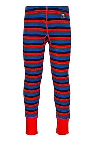 Mountain Warehouse Pantalon rayé enfant Merino-base layer Orange 3-4 ANS