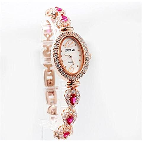 Beautiful impermeable Rose oro blanco pulsera de diamantes señoras relojes lujo relojes, color 1