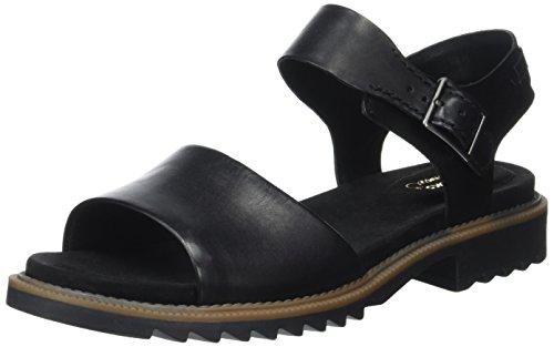 Clarks Damen Ferni Fame Knöchelriemchen, Schwarz (Black Leather), 38 EU