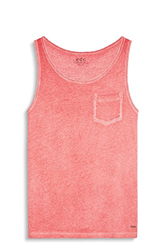 edc by ESPRIT Herren Tank Top 057cc2k034 Rot (Red)