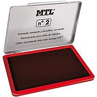 MTL 79531 - Tampón metálico de sellar, 109 x70 mm, color rojo