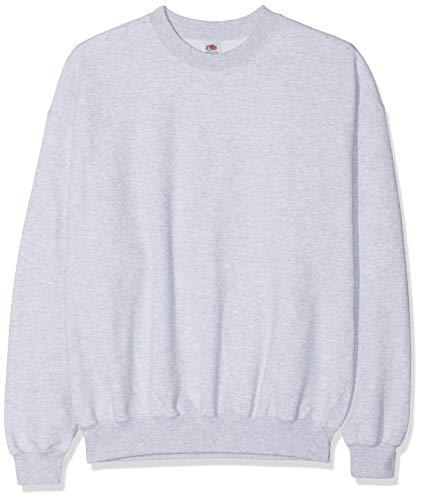 Fruit of the Loom Herren Sweatshirt 12200B, Gr. 52/54 (L), Grau (94 graumeliert) Fruit Of The Loom Classic Sweatshirt