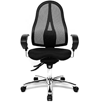 topstar sitness 15 fitness swivel chair with three dimensionally moveable seat black amazon. Black Bedroom Furniture Sets. Home Design Ideas