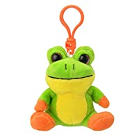 Wild Planet K8182 Orbys Frog Keyring Plush Toy, 9 cm, Multicolour