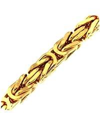 Königskette Gold Doublé 8 mm Länge wählbar Halskette Herren-Kette Goldkette Damen Geschenk Schmuck ab Fabrik Italien tendenze
