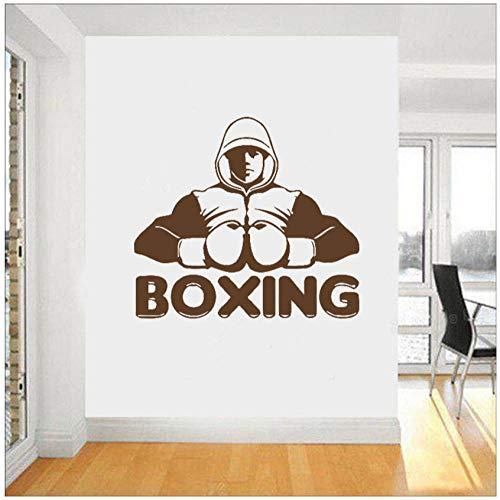 Boxen Boxer Kampf Wandaufkleber Gym Fitness Übung Wandtattoo Workout Sport Vinyl AufkleberWohnkulturSchlafzimmer62X56 cm -