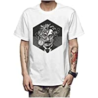 Z-X Camiseta de Manga Corta para Hombre de Diseño Personalizado Americana, d Blanca, SG