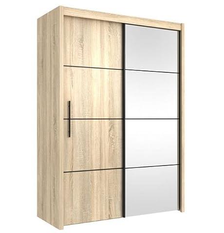 Inova Sliding Door Wardrobe Oak Effect 150cm (P4DS4115) - By