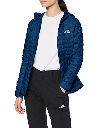 THE NORTH FACE Damen Thermoball Sport Hoodie, Blue Wing Teal, M (North Face Hoodie-jacke Damen)