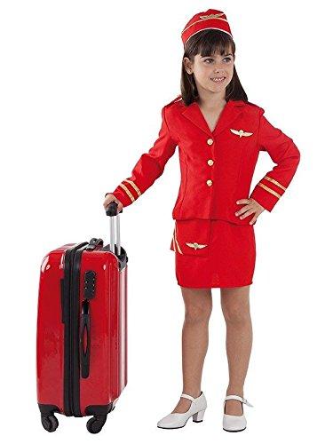 Imagen de disfraz azafata de vuelo niña  único, 7 a 9 años