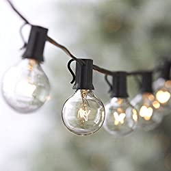 25ft Weatherproof Globe String Lights With 25 G40 Bulbs, Indooroutdoor Use, Perfect For Patio, Garden, Homes, Wedding, Party (Include 3 Spare Bulbs)