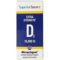Superior Source - Vitamine D3 10000 IU - 100 Comprimés Dissolution Instantanée