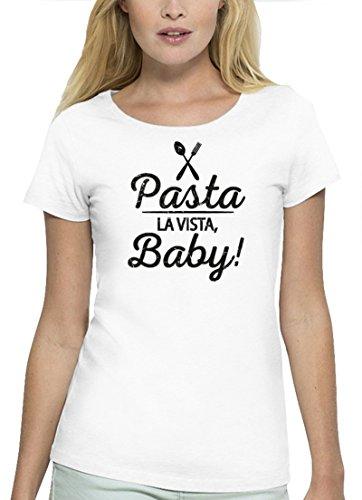 Kochen Koch Küchen Party Premium Bio Baumwoll Damen Frauen T-Shirt Stanley Stella Pasta La Vista Baby, Größe: L,White