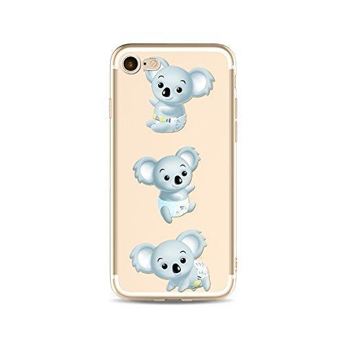 Coque iPhone 7 Housse étui-Case Transparent Liquid Crystal en TPU Silicone Clair,Protection Ultra Mince Premium,Coque Prime pour iPhone 7-Koala-style 13 9