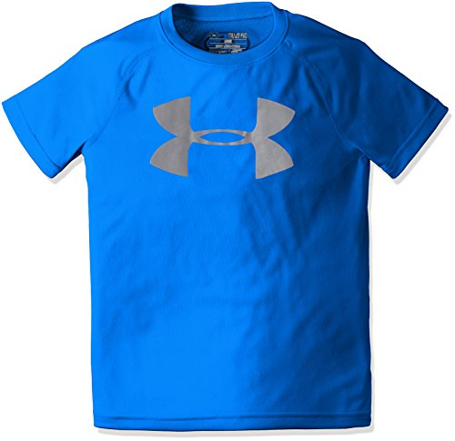 Under Armour Kinder T-shirt (Under Armour Jungen UA Tech Big Logo SS Kurzarmshirt, Ultra Blue, YLG)