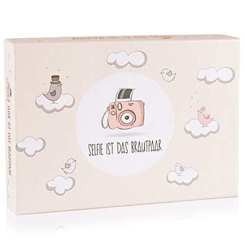 Hochzeitsspiel: Selfie ist das Brautpaar - Box mit kreativen und lustigen Fotoaufgaben - Tolles Spiel für Gäste oder Geschenkidee für das Brautpaar